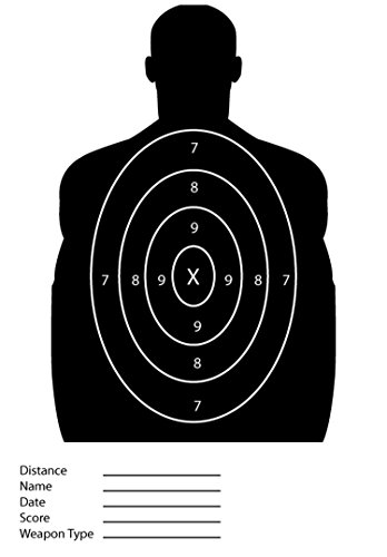 25 Pack - Black Silhouette Paper Shooting Targets For The Range