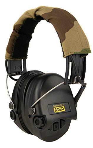 MSA Sordin Supreme PRO X - Digital Electronic Earmuff Amplification Camo-Black Gel-Seals