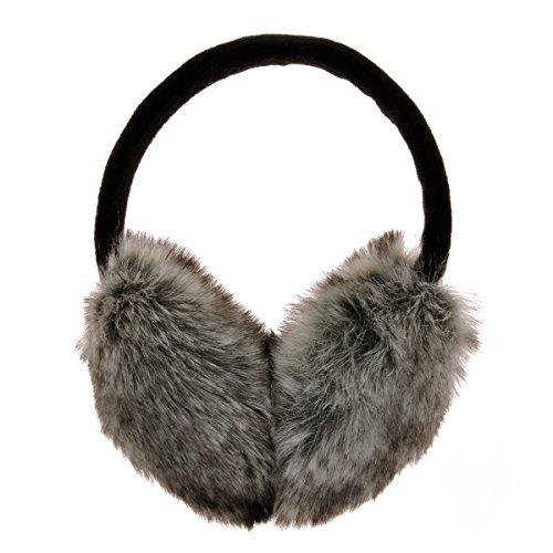 ZLYC Womens Girls Winter Fashion Adjustable Faux Fur EarMuffs Ear Warmers