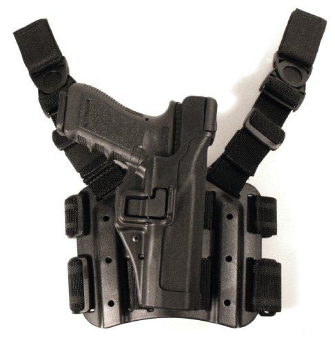 BLACKHAWK Serpa Level 3 Tactical Black Holster Size 13 Left Hand Glock 202121SFnot 1913 rail3738