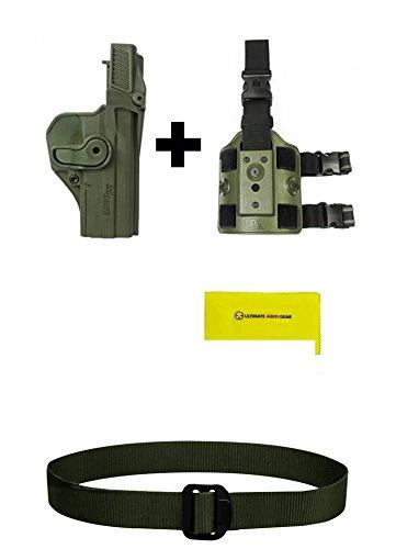 IMI Defense Z1390 Level 3 Holster Sig Sauer PRO SP2022SP2009220220 COMBAT 45226P227228MK 25 P226 Combat Tacops OD Green  Z2200 Drop Leg Attachment Rig  Ultimate Arms Gear BDU Duty Belt