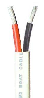 122 AWG Duplex Tinned Marine Wire RedBlack 50 Feet