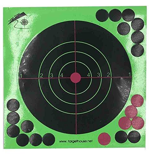 Target House 8 X 8 Self adhesive Splatter Reactive Shooting targets for Gun-Pistol-Rifle-Airsoft-Pellet Gun- Air rifle 100 pack