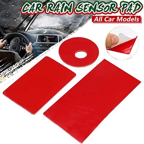 CHUN-Accessory - Car Front Windshield Windscreen Window Rain Sensor Glass Glue Stickers Wipers Sensitive Film Pad Rectangle Gel for BMW For BENZ