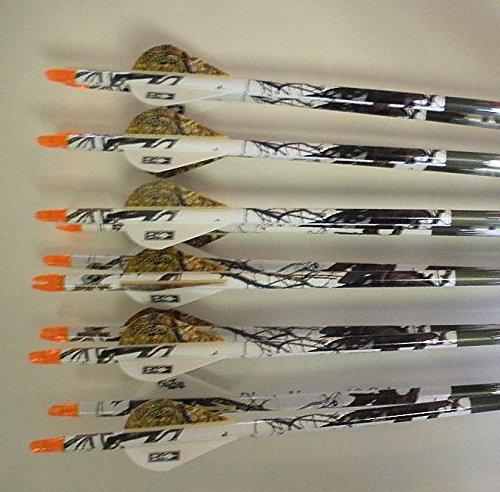 Easton Aftermath 340 Carbon Arrows wBlazer Vanes Mossy Oak Wraps 12 Dz 6Nockturnal Nocks