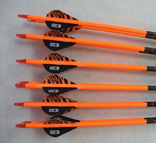 Gold Tip Hunter 400 Carbon Arrows wBlazer Vanes Bullseye Wraps 12 Dz 6Nockturnal Nocks