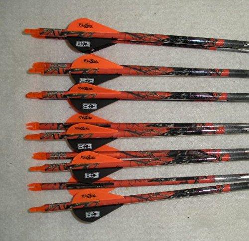 Carbon Express Mayhem Hunter 350 Carbon Arrows wBlazer Vanes Mossy Oak Wraps 1 Dz