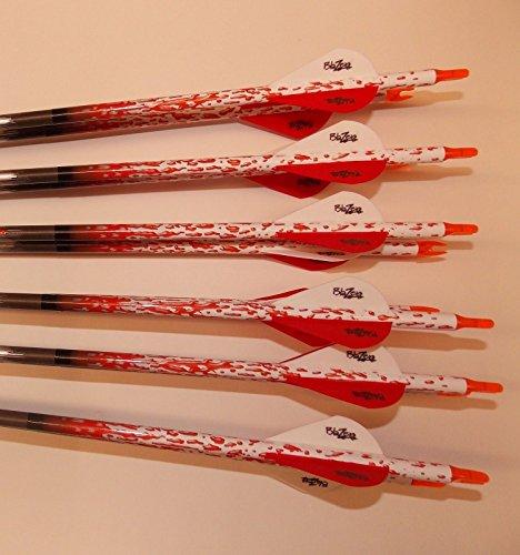 Carbon Express Mayhem Hunter 350 Carbon Arrows wBlazer Vanes Rain Wraps 1 Dz
