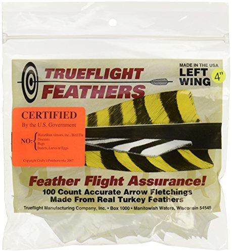 TRUEFLIGHT FEATHERS SHIELD CUT 4 LW WHITE 100PK