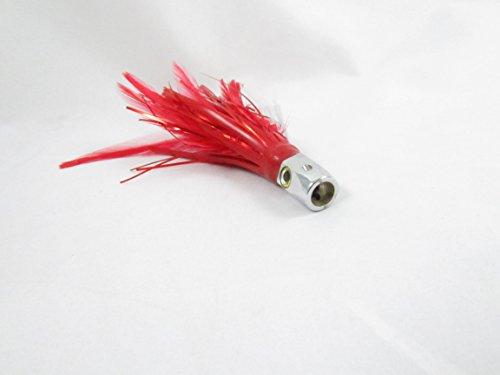 Saltwater Trolling Lure Hex Jet Head For Tuna Dorado Marlin Wahoo Fishing Red Feathers
