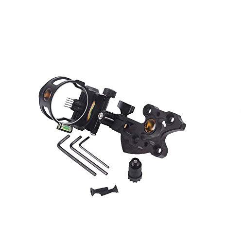 Benfa Compound Bow 5-Pin Bow Sight Fiber Optics with LED Sight Light Archery Accessory