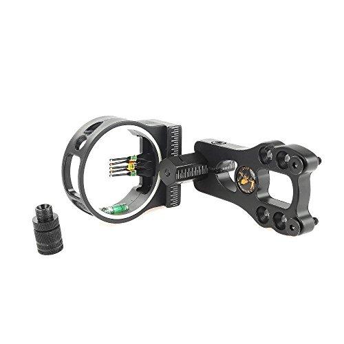 XHYCKJ 5 Pin Bow Sight 029 Adjustable Fiber Optics with LED Sight Light