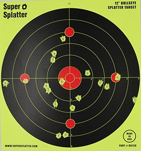 12 Bullseye Super Splatter Targets - 100 50 25 10 Packs - Creates Huge Super Splatter Spots - See Your Hits Instantly 25
