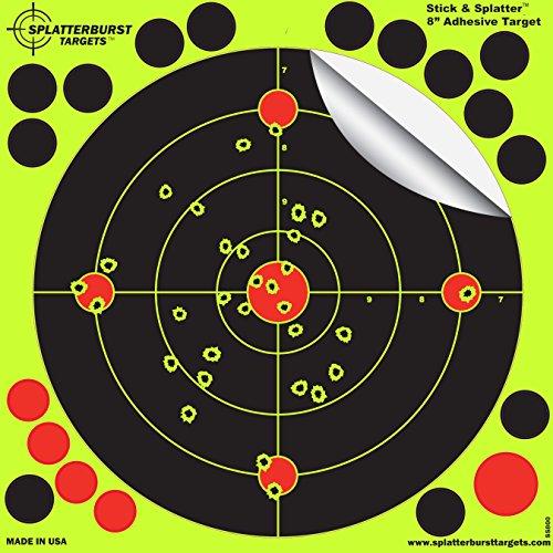 Splatterburst Targets 8-Inch Stick and Splatter Adhesive Shooting Targets 25-Pack