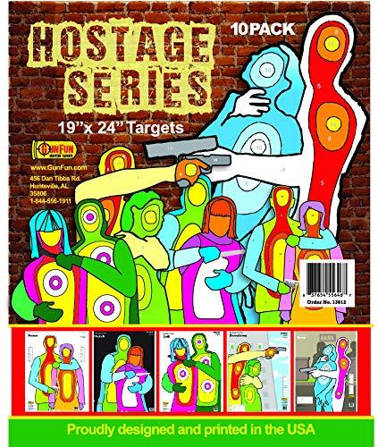 GunFun Hostage Paper Shooting Targets - 19 x 24 10 Pack