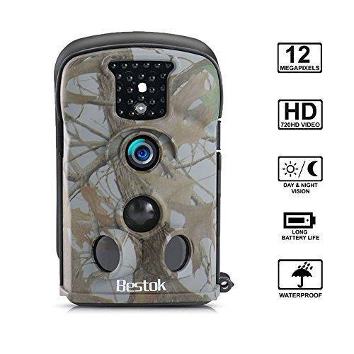 Bestok Hunting Camera 120° Lens 12MP HD Infrared Night Vision 65ft 24 LCD Trail Wildlife Camera 5210