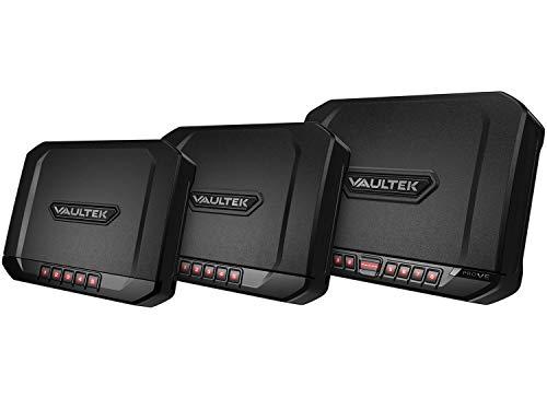 Vaultek Essential Series Quick Access Handgun Safe with Auto Open Lid Pistol Safe Rechargeable Lithium-ion Battery Not Compatible with Smart Key