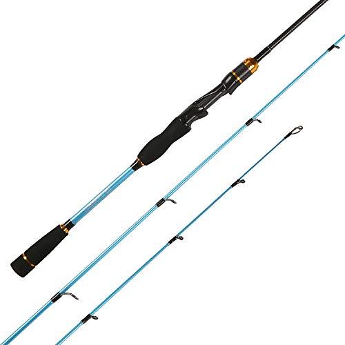 LurEra Bass Fishing Spinning Rod 2 Piece Medium Light Power