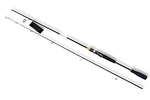 SeaQuest Spinning Fishing Rod 2-piece Carbon Fiber Fishing Pole Medium Light Power Casting Pole