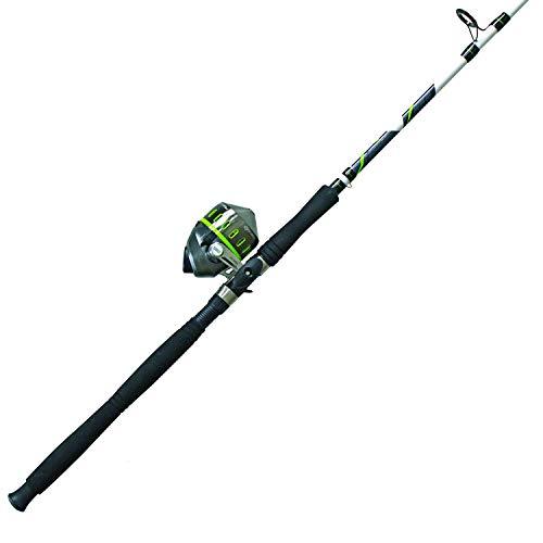 Quantum Fishing Zebco Big Cat XT Spincast Reel and 2-Piece Fishing Rod Combo Extended EVA Foam Handle Instant Anti-Reverse Fishing Reel Size 80