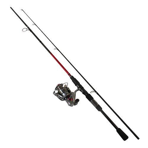 Quantum Optix Spinning Reel and 2-Piece Fishing Rod Combo Split-Grip EVA Foam Handle Continuous Anti-Reverse Fishing Reel Size 30