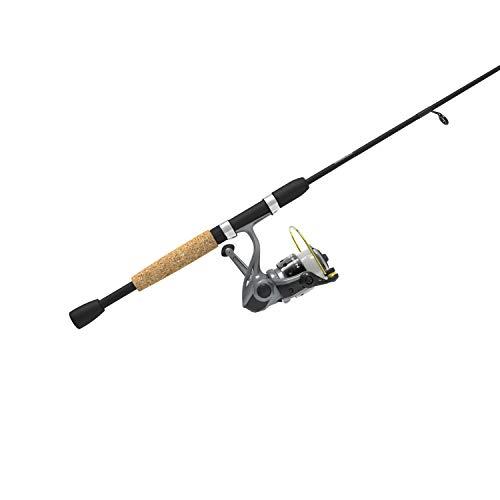 Zebco Spyn Spinning Reel and 2-Piece Fishing Rod Combo Split-Grip Cork Rod Handle Instant Anti-Reverse Fishing Reel Size 30