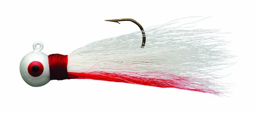 Eagle Claw Bucktail Jig WhiteRed