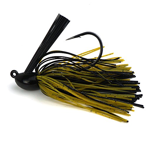 Eupheng Pro Tungsten Swim Jig Designed For Flipping Pitching Casting In Around Cover Chip Resistant Paint Life Looking Skirt 38oz Green Pumpkin Black 1pcs