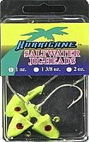 Hurricane Saltwater Jig Head 1-Ounce ChartreuseBlack