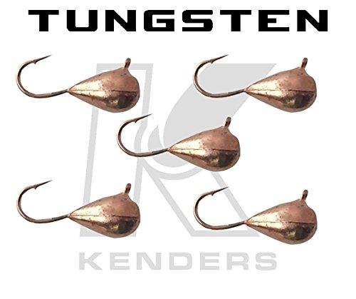 Kenders Outdoors 5 Pack Tungsten Jig - Copper Metallic
