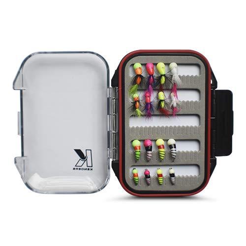 Kenders 16 Piece Tungsten Ice Fishing Akua Jig Series Kit with Premium Box
