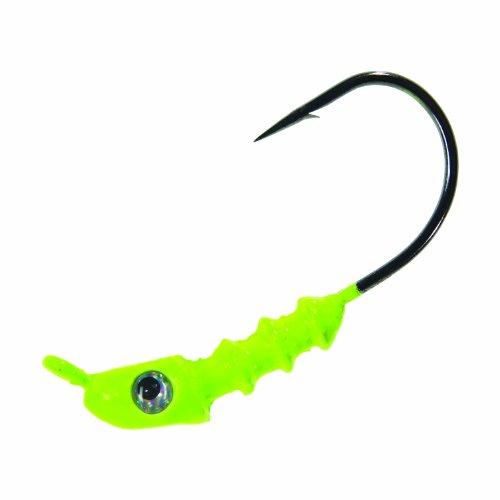 Mistre Twister Saltwater Jigheads 14-Ounce Chartreuse