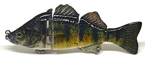 4 6 Fishing Swimbait Lure Life-like Perch Rainbow Crappie Bluegill Striper A 4 Inches