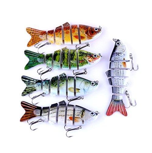 Alonea 6 Segment Koyot Swimbait Lures Crank baits Baits Hard Bait Fishing Lures Random Color