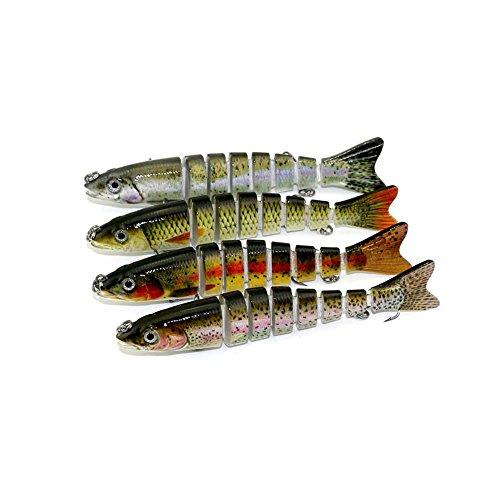 Delight eShop 1Pc 8 Segment Minnow Swimbait Lures Crank Bait Baits Hard Bait Fishing Lures Hot