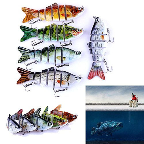 Fake Fishing LuresZIYUO 6 Segment Koyot Swimbait Lures Crank baits Fishing Bass Baits Hard Bait Fishing Lures
