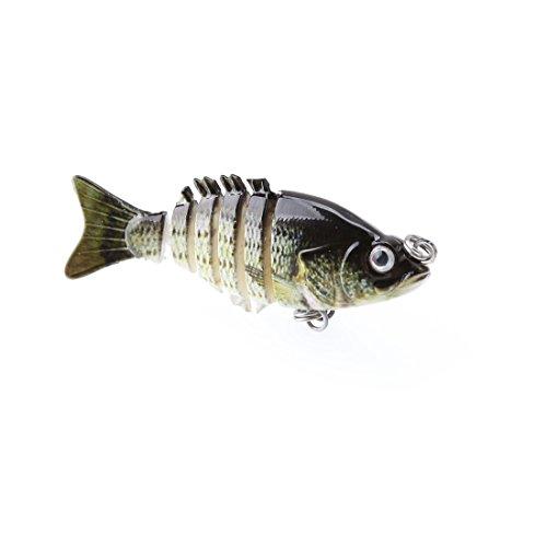 A-SZCXTOP 5cm 25g Multi Jointed Fishing Lures Hard Baits Lifelike 6 Segments Swimbait Bass Crankbaits Perch Pike Walleye Trout Fishing Baits