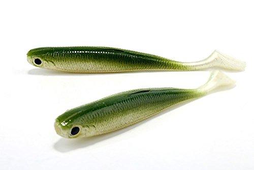Kingdomfishing Fishing Bait Soft Artificial Lure Swimbaits Fishing Tackle Set for Predator Fishes-Pack of 5