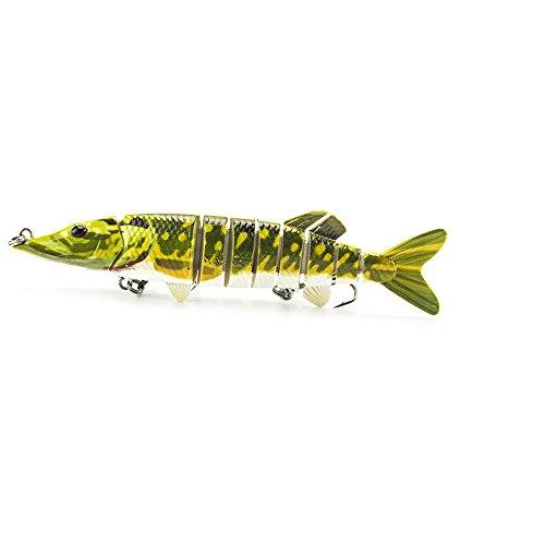 Zy 5  125cm 20g Lifelike Pike Muskie Fishing Lure Multi-jointed 9-segement Swimbait Crankbait Pesca Hard Fishing Bait Treble Hook Fishing TackleYellow