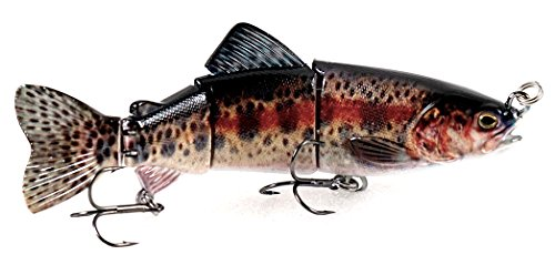 6 Jointed Lifelike Rainbow Trout Sinking Swimbait Hard Fishing Lure by Eye Candy Fishing Lures