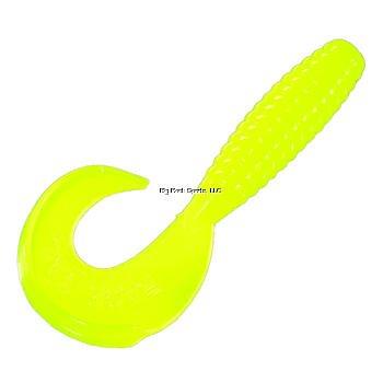 Strike King Rage Tail Grub Bait Hot Chartreuse 4-Inch