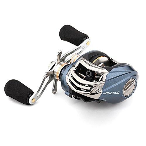 JOHNCOO Baitcasitng Fishing Reel 653 oz Low Profile Reel Good Value Smooth Baitcaster