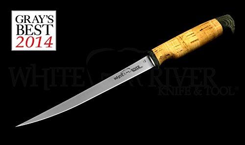 White River Knife Tool 8 Fillet Knife Ultra Light Cork Handle 440C Stainless Steel WRF8-CORK