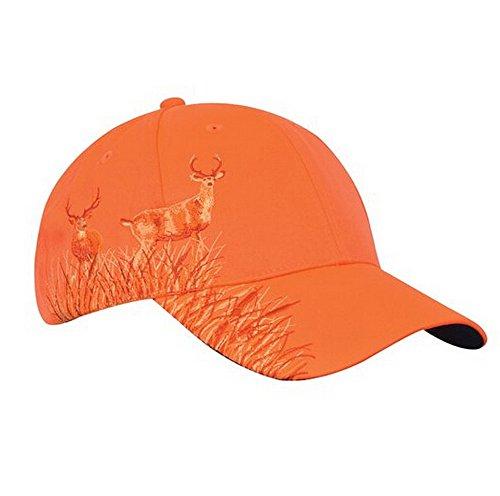 KC Caps Men Hunting Hat Orange Embroidered Baseball Cap Adjustable Back ClosureNeon Orange Buck