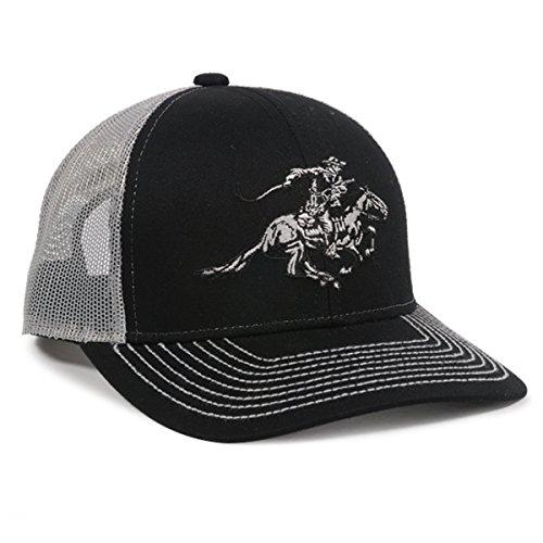 Winchester Horse Rider Mesh Back BlackWhite Hunting Hat