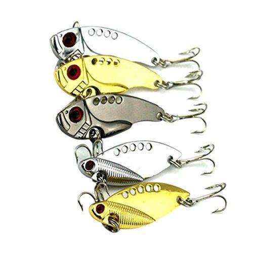 Fishing Lures Inkach 5pcs Hard Metal Fishing Bass Spoon Bait Tackle Nice Gadget