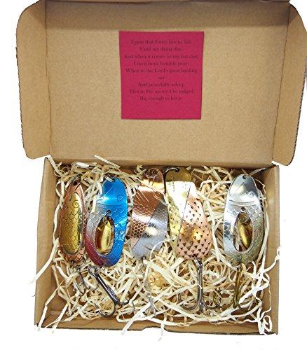 Fishing spoon handmade set made in europe pike lure gift idea menbass spoon
