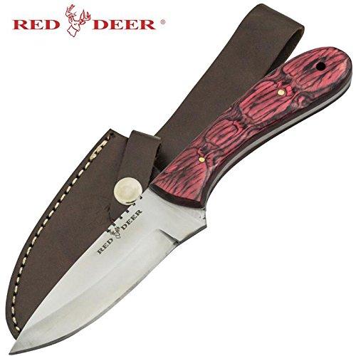 Red Deer Red Pakka Wood Handle Hunting Knife