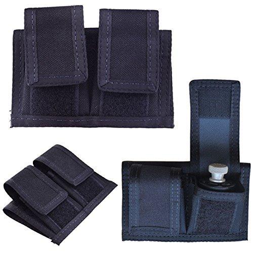 Double Speedloader Belt Pouch Universal Fit 22 Mag thru 44 Mag Black
