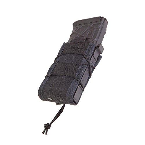High Speed Gear Belt Mounted Single Rifle Mag Taco Pouch Black 13Ta00Bk